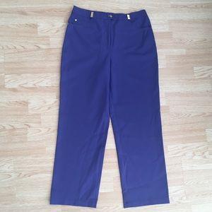 St. John Sport Periwinkle Blue Twill Trouser Pants